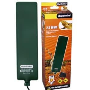 Греющая подушка для террариума Reptile One Low Voltage Heat Mat 6х24 см, с встроенным термостатом (2,5W)