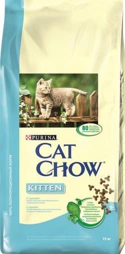 "Сухой корм CAT CHOW ""Kitten"" сухой 15 кг для Котят Курица"