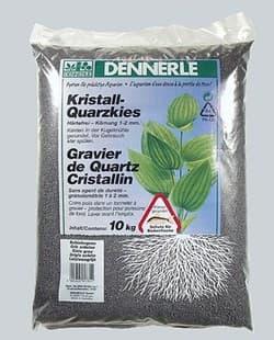 Аквариумный грунт DENNERLE Kristall-Quarz, гравий фракции 1-2 мм, цвет сланцево-серый, 10 кг.