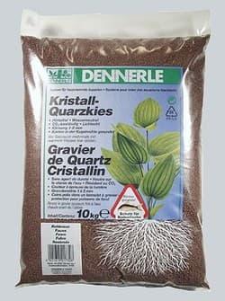 Аквариумный грунт DENNERLE Kristall-Quarz, гравий фракции 1-2 мм, цвет светло-коричневый (цвет косули), 10 кг.
