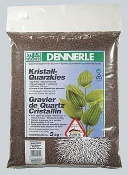 Аквариумный грунт DENNERLE Kristall-Quarz, гравий фракции 1-2 мм, цвет темно-коричневый, 5 кг.