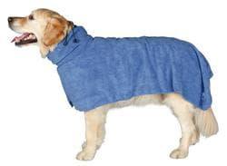 Полотенце-попона для собак XS 30 см, микрофибра, синий артикул 23481