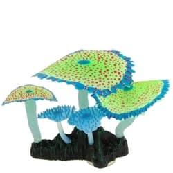 Флуорисцентная аквариумная декорация GLOXY Кораллы зонтничные зеленые, 14х6,5х12см
