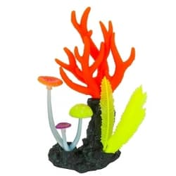 Флуорисцентная аквариумная декорация GLOXY Морские кораллы розовые, 14х6,5х21см