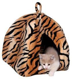 """Trixie Лежак-домик для кошки """"Nelo"""", 35х40х35см., плюш, тигровый артикул 36345"""