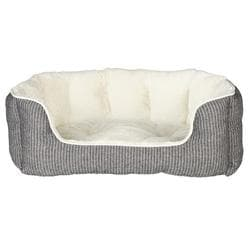 Лежак для собак Davin 60х45 см, серый-кремовый артикул 38975