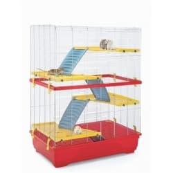 Имак клетка для грызунов RAT 80 DOUBLE, красный, 80х48,5х110см