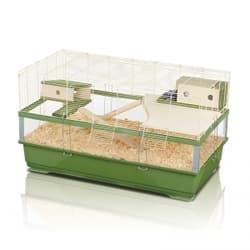 Имак клетка для крыс PLEXI 100 WOOD, зеленый, 100х54,5х55,5см
