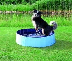 Бассейн для собак, d 160х30 см, голубой/синий артикул 39483
