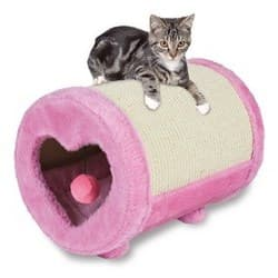 Trixie Когтеточка-бочонок для кошек, 27х39, розовый. Артикул 43116