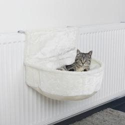 Trixie Лежак-гамак подвесной на радиатор, плюш, 45х13 х33 см, белый артикул 43140