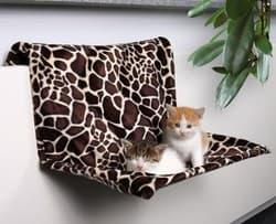 Trixie Гамак для кошки 48х28х30см, на радиатор, жираф артикул 43208