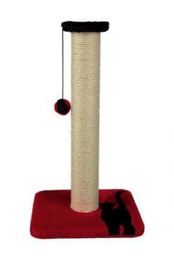 Trixie Когтеточка-столбик для кошек Mendi, 61 см, красный-черный артикул .43329
