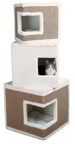 Trixie Домик для кошки башня Лило , 46х46х123 см, коричневый/бежевый артикул 43377 ТОЛЬКО ПОД ЗАКАЗ