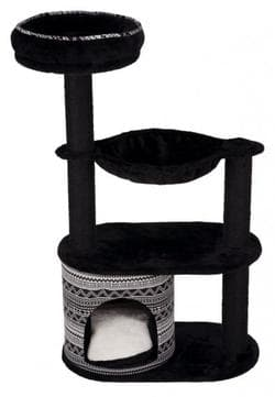 Домик для кошки Giada, 112 см, черный/белый атикул 43466