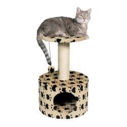 Trixie Домик для кошки Toledo кошачьи лапки высота беж артикул 43705