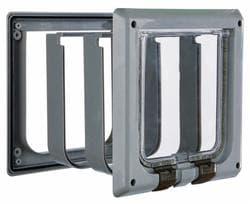 Trixie Дверца для кошки врезная (15,8х14,7см), с 4 функциями, серая артикул 38642. Снимается с производства.