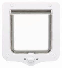 Trixie Дверца для кошки 2-Way, 20 х 22 см белая, серая