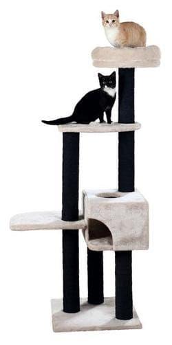 Trixie Домик-когтеточка Nita 45х47х147 см, светло-серый артикул 44644