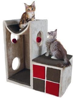 Trixie Домик-башня для кошки Nevio светло-серый-красный артикул .44652