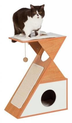 Домик для кошки, LEANO 70 см, коричневый/белый атикул 48990