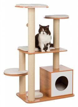 Домик для кошки Laia , 120 см, коричневый/белый артикул 48991