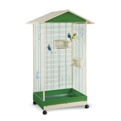 Имак клетка для птиц PERVINCA, зеленый, 100,5х72,5х167,5см
