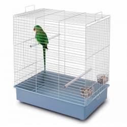 Имак клетка для птиц DORA 2, пепельно-синий, 61х40х66см