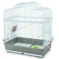 Имак клетка для птиц Ginevra, бежево-серая с белым, 80,5x49x94 см