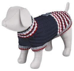 """Пуловер для собак """"Pinerolo"""", S: 36 см, синий / красный / белый"""