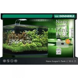 Dennerle Nano Scapers Tank Basic 35 LED - Панорамный нано-аквариум для акваскейпинга