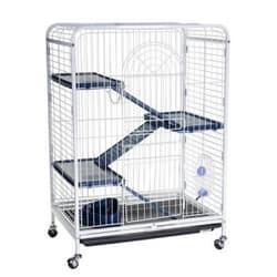 KREDO Клетка для шиншиллы 3-х этаж.64х44х93 см, на колесах,компл, выдвижной поддон D800