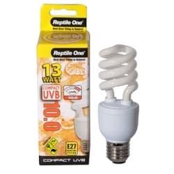 Лампа Reptile для террариума One Lamp Compact 5.0, для рептилий и амфибий, Е27, 26W, 5% UVB