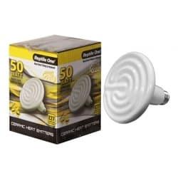 Керамический нагреватель для террариума Reptile One Ceramic Heat Lamp (50W, E27)