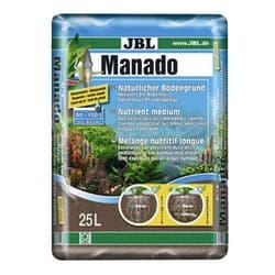 JBL Manado 25l - Питательный грунт для аквариумных растений , улучшающий качество воды и стимулирующий рост растений, красно-коричневый (цвет латеритной почвы), 25 литров.