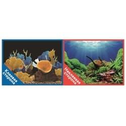 Фон двухсторонний с одной самоклеящейся стороной Морские кораллы/Подводный мир 30x60см 9096-1/9097