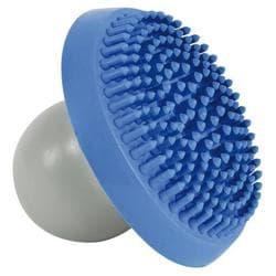 Щетка массажная с контейнером для шампуня, натуральная резина, синий/серый артикул 2303