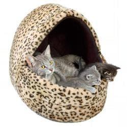 "Trixie Лежак для кошки ""Leo"" 40х35х35см, искусственный мех, с рисунком ""леопард"" артикул 3626"