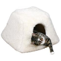 """Trixie Домик-лежак для кошки """"Fay"""" , 42х28х44см, иск. мех, белый артикул 3631"""