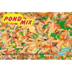 """Биодизайн корм для прудовых рыб """"ПОНД-МИКС""""-смесь хлопья, гранулы и гаммарус 60л (крафт-мешок)"""