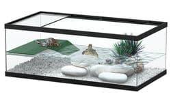 TORTUM 55 Аквариум для черепах, 550х300х200, черный (001), отдельно светильник арт.10073 (нет в наличии)