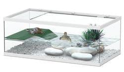 TORTUM 55 Аквариум для черепах, 550х300х200, белый (025), отдельно светильник арт.10074 (нет в наличии)