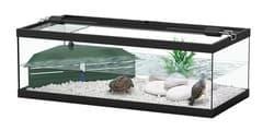 TORTUM 100 Аквариум для черепах, 100х400х300, фильтр ТС500, черный (001), отдельно светильник (нет в наличии)