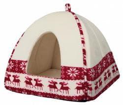 Рождественский Санта лежак-пещера для собак 38х35х38 см, красный/кремовый артикул 92464 Серия ограничена