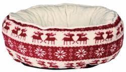 Рождественский Санта лежак для собак основание 50 см, красный/кремовый артикул 92466 Серия ограничен